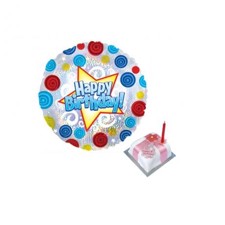 Happy Birthday Helium Ballon with Gift