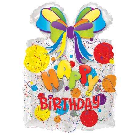 Happy Birthday Helium Balloon with Bow