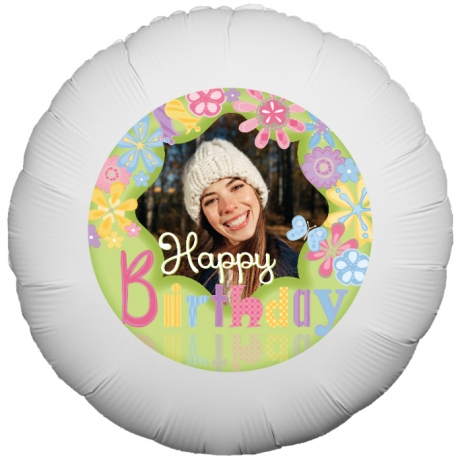 PRODUCT BALLOONS Bright Floral Birthday Balloon image