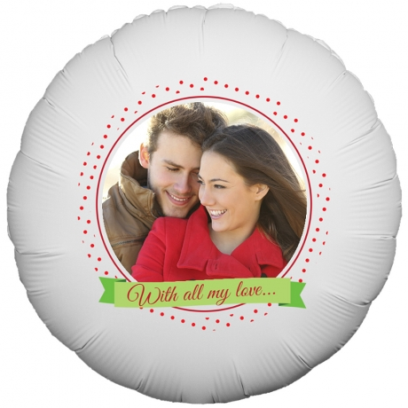 PRODUCT BALLOONS Dotted Frame Photo Balloon image