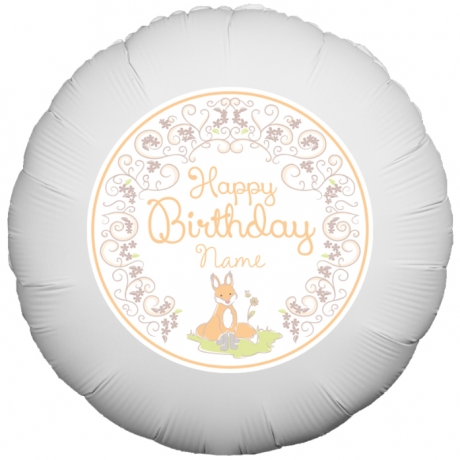 PRODUCT BALLOONS Floral Fox Birthday Balloon image