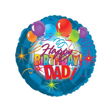 Happy Birthday Dad Helium Balloon