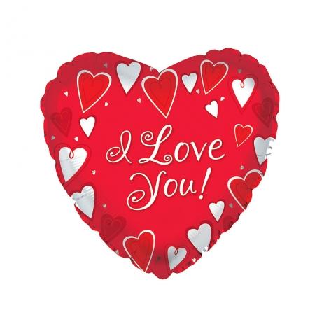 I Love You Valentines Helium Balloon