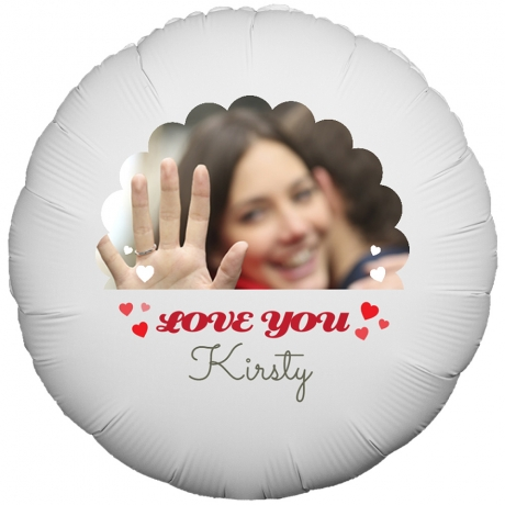 PRODUCT BALLOONS I Love You Hearts Photo Balloon image
