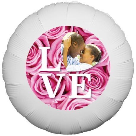 PRODUCT BALLOONS Love Quote Roses Balloon image