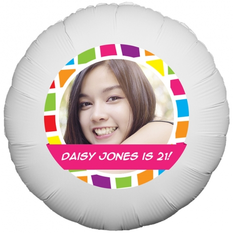 PRODUCT BALLOONS Squares Frame Pink Photo Balloon image