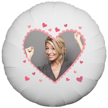 PRODUCT BALLOONS Valentines Heart Photo Balloon image