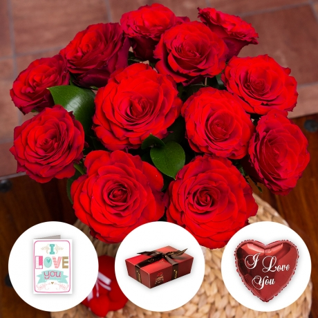 PRODUCT FLOWERS I Love You Flower Gift image
