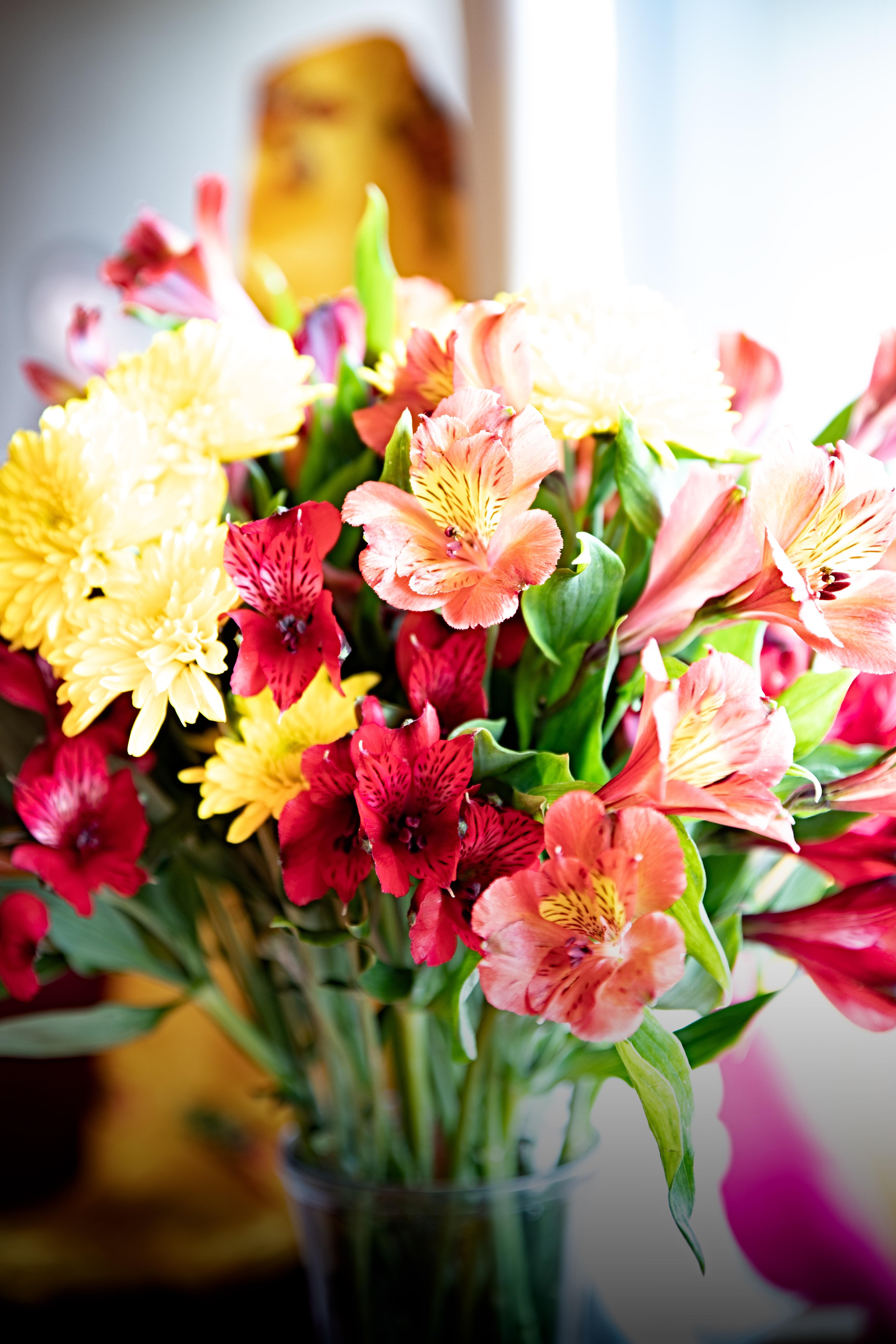 Sending beautiul flowers by post