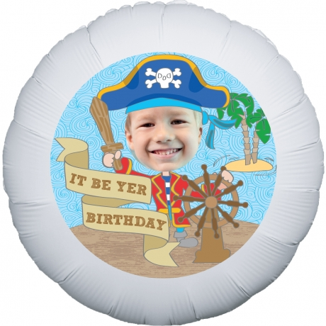 PRODUCT BALLOONS Lil Pirate Personalised Balloon image