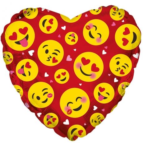 PRODUCT BALLOONS Emoji Hearts Balloon image