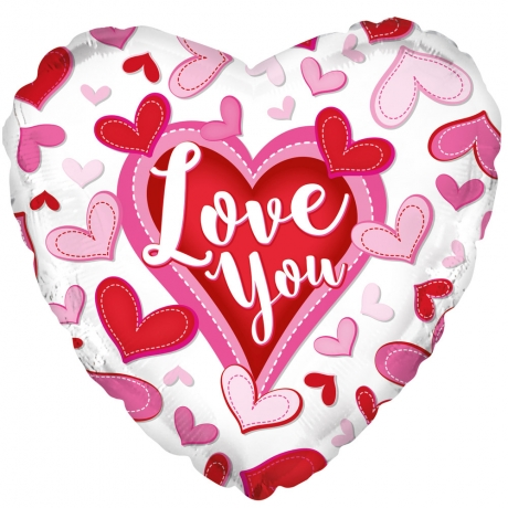 PRODUCT BALLOONS Patterned Love You Balloon image