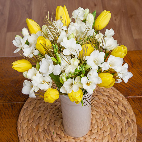 PRODUCT FLOWERS Freesias and Tulips image