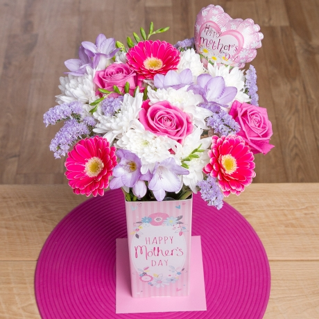 PRODUCT FLOWERS Mums Pride Vase Gift image