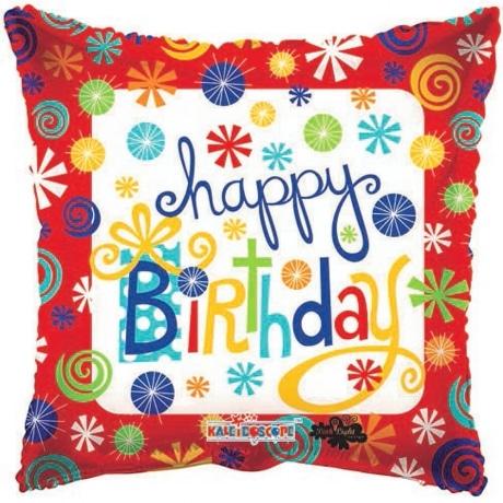 PRODUCT BALLOONS Birthday Swirls Balloon image