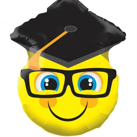 PRODUCT BALLOONS Emoji Graduation Balloon image