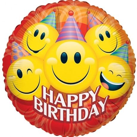 PRODUCT BALLOONS Happy Birthday Smiles Balloon image
