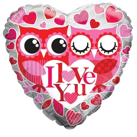 PRODUCT BALLOONS I Love You Owls Balloon image
