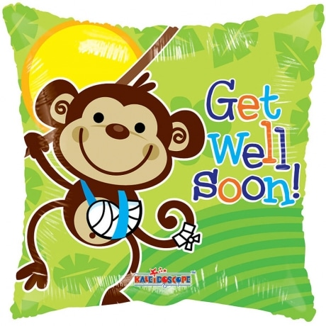 PRODUCT BALLOONS Monkey Get Well Balloon image