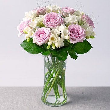 PRODUCT FLOWERS Freesias and Roses image