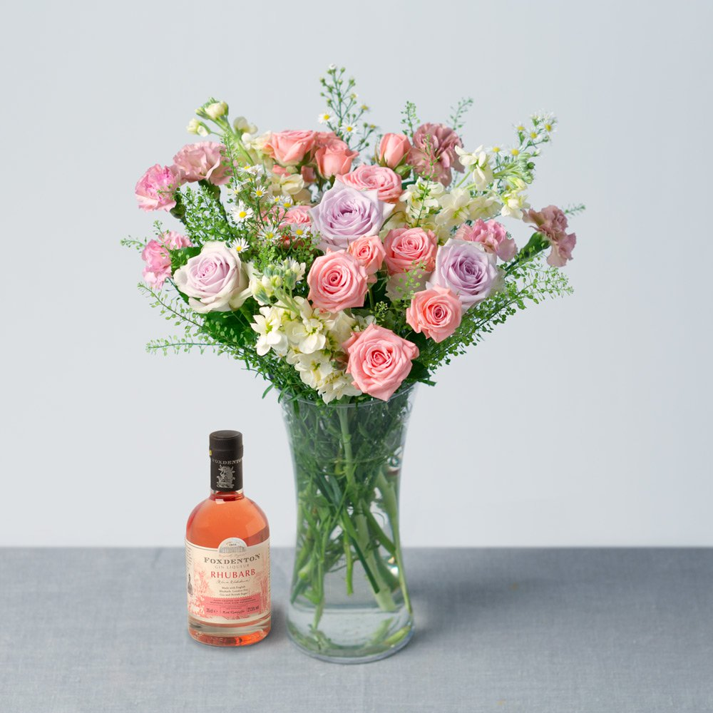 PRODUCT FLOWERS Rhubarb Gin Gift image
