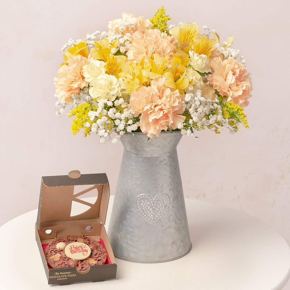 PRODUCT FLOWERS Birthday Pizza Gift image